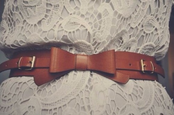 belt waist belt bows leather