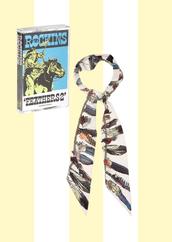 scarf,printed scarf,silk scarf,feathers,boho,boho chic,rockins