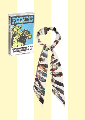 scarf printed scarf silk scarf feathers boho boho chic rockins