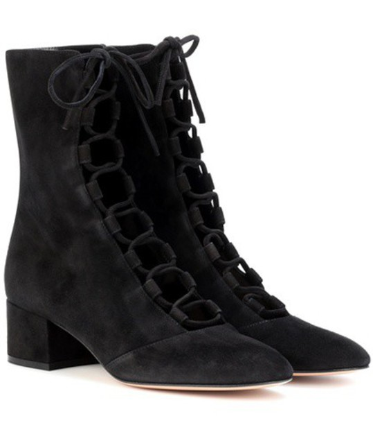 Gianvito Rossi suede ankle boots ankle boots suede black shoes