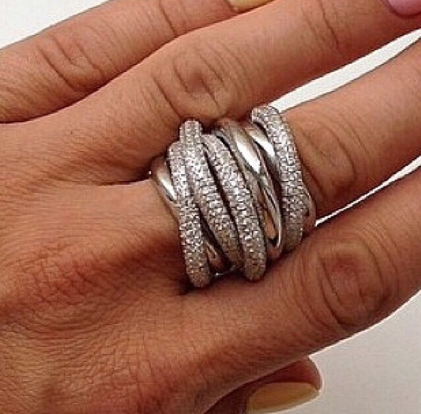 jewels zirconium 7 rings silver ring minimalist jewelry
