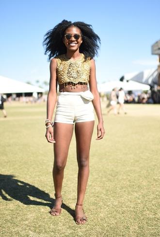 shirt gold white festival sparkle hippie coachella sparkly dress