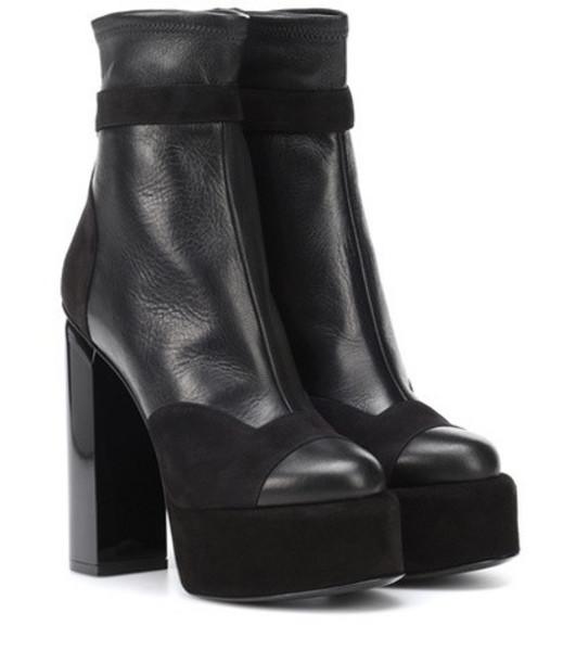 Pierre Hardy Scarlett leather ankle boots in black