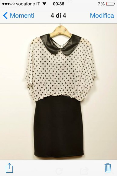 dress peter pan collar heart
