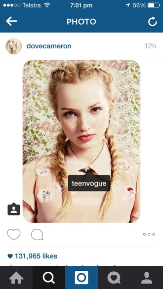 top dove cameron disney disney channel descendants disney descendants braid hair teen vogue teenagers hair accessory