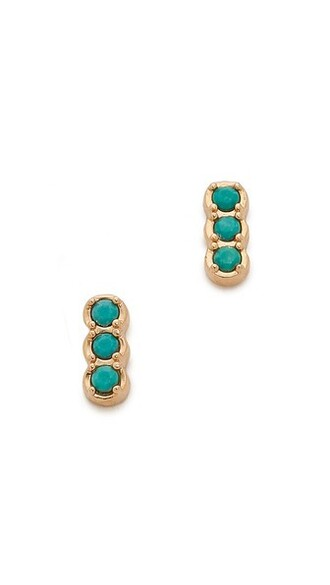 rose gold rose earrings stud earrings gold turquoise jewels