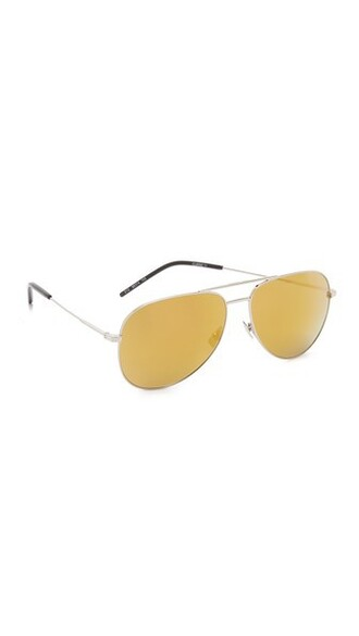oversized classic sunglasses gold silver