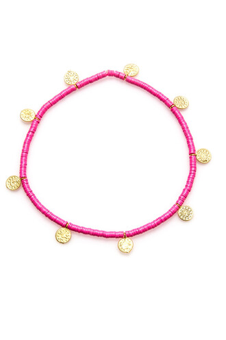 jewels anklet electric picks jewelry pink bikiniluxe
