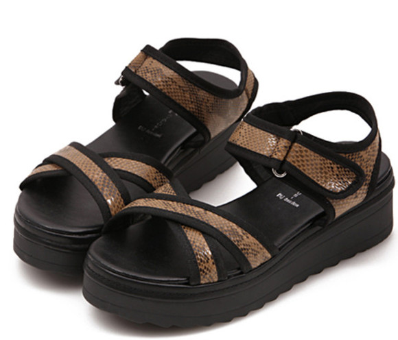 shoes beach summer casual black women girls
