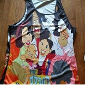 tank top,all over print,cartoon,disney,swag,proud family,shirt