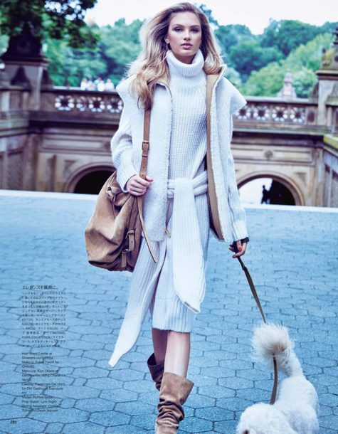dress turtleneck turtleneck dress romee strijd model editorial jacket fall outfits