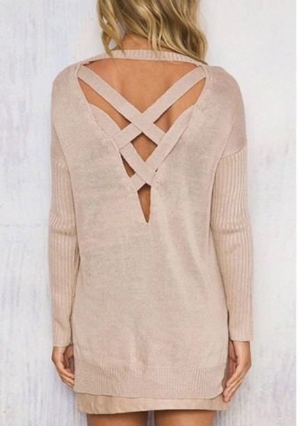 sweater girly girl girly wishlist nude cut-out fall sweater