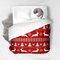 Christmas pattern red duvet cover