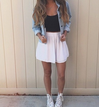 skirt jacket top cute top cute skirts pink skirt skater skirt