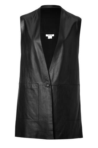 vest leather vest leather black jacket