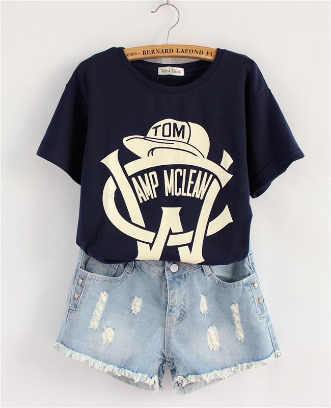 2014 Summer College wind mushroom ladies ' Street, new Korea tide loose hat Joker fan short sve t-shirt