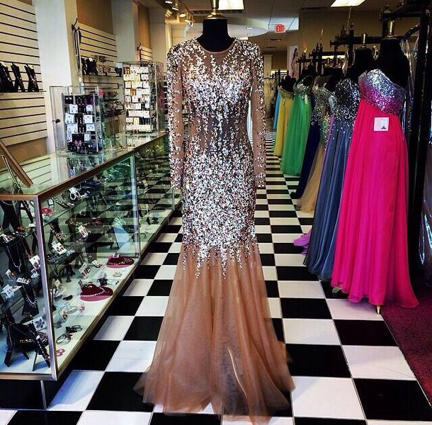 Mesh Mermaid Prom Dress