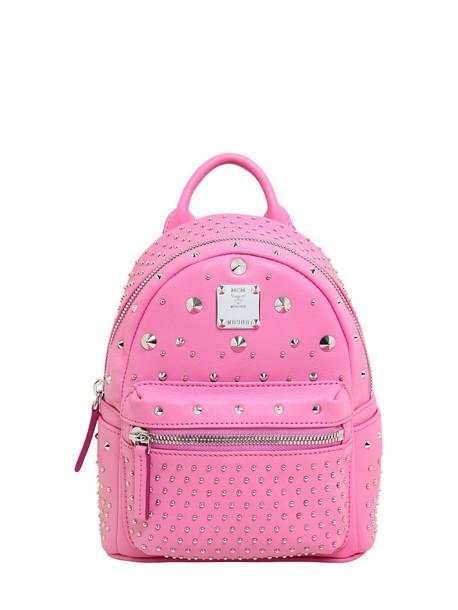 MCM backpack leather backpack leather bag
