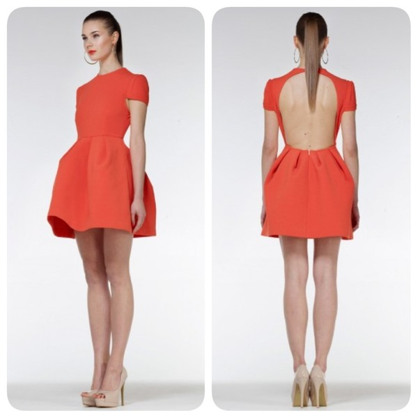 dress orange dress orange open back open back dresses backless dress backless