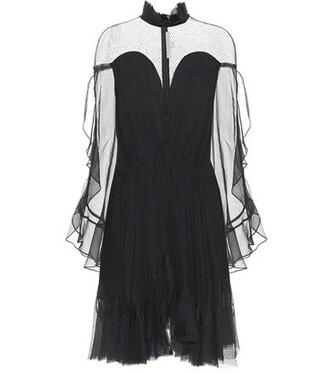dress chiffon dress chiffon silk black