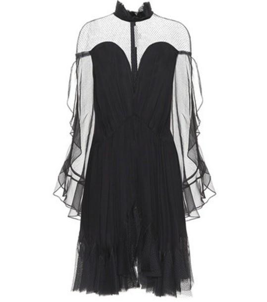 Jonathan Simkhai Silk-chiffon dress in black