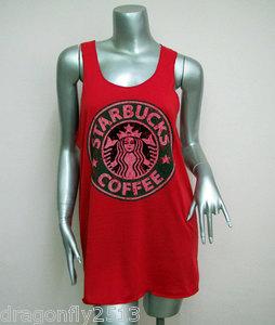 Shirt women tank tops rock screen red q07 sz.l