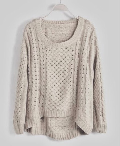 sweater knitted cardigan cream jumper white jumper knitted cardigan