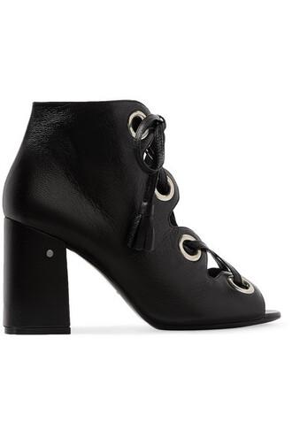 sandals leather sandals lace leather black shoes