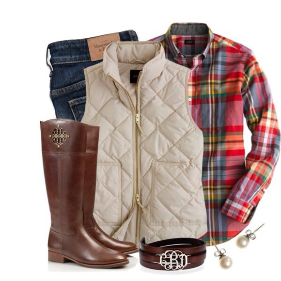 jacket vest preppy preppy vest navy flannel