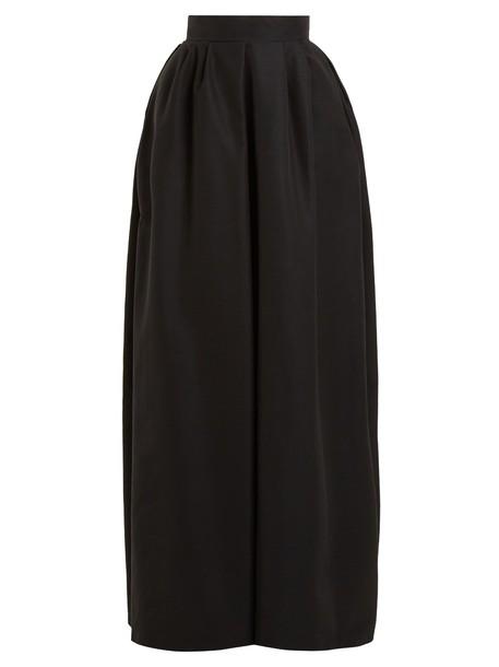Rochas skirt maxi skirt maxi cotton black