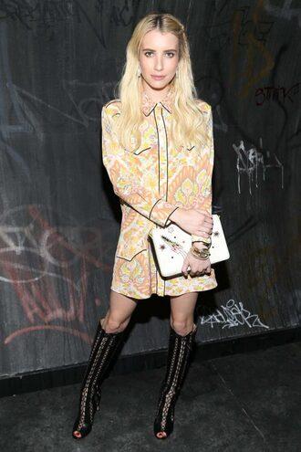 dress shoes boots booties emma roberts ny fashion week 2016 fashion week 2016