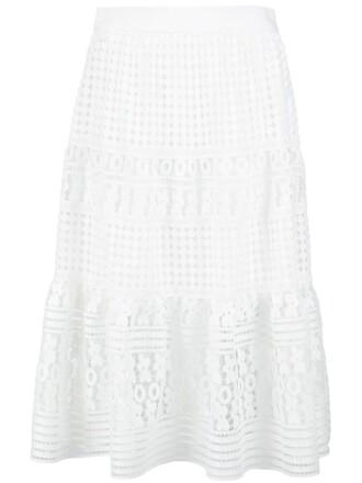 skirt lace skirt layered lace white