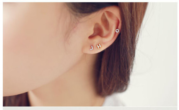 earrings grande il letter fullxfull co thinkpawsitive stud