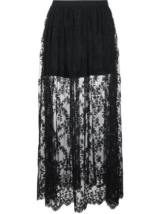 skirt lace skirt maxi lace black