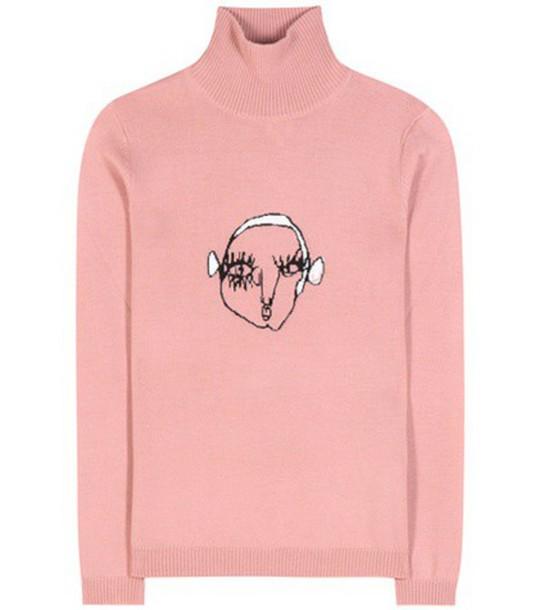 Shrimps Marion Wool Turtleneck Sweater in pink