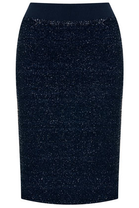 Lurex Pencil Skirt - Topshop