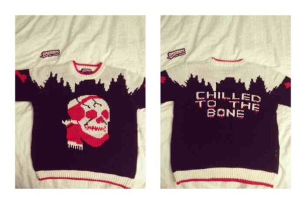 Sweater: skull, christmas sweater, ugly christmas sweater - Wheretoget