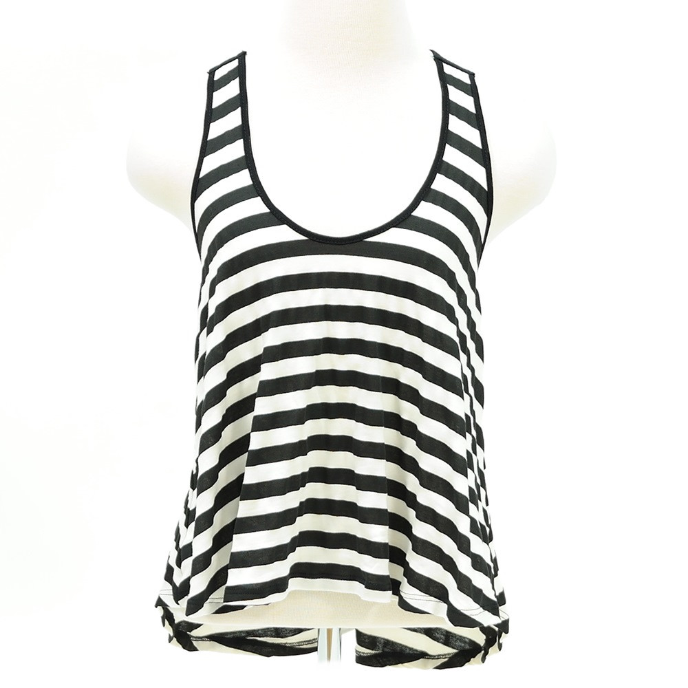 Summer stripe tank top with bow back detail