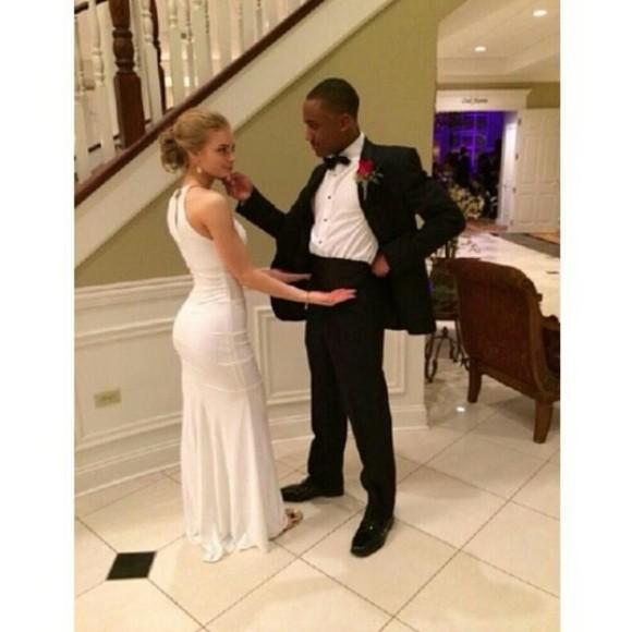 prom white dress