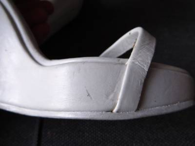 Rick Owens White Leather Rhino Wedge Ribbed Cuff Sandals Heels 37 UK4 | eBay
