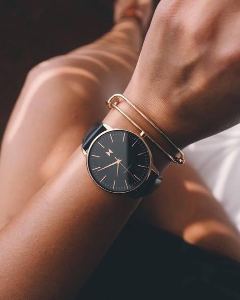 jewels mvmt watches mvmt accessories Accessory watch black watch leather watch bracelets gold bracelet