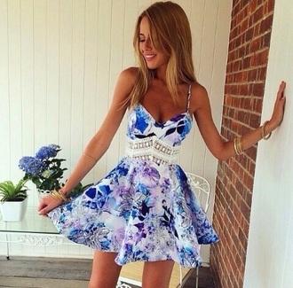 dress blue dress purple dress flowar