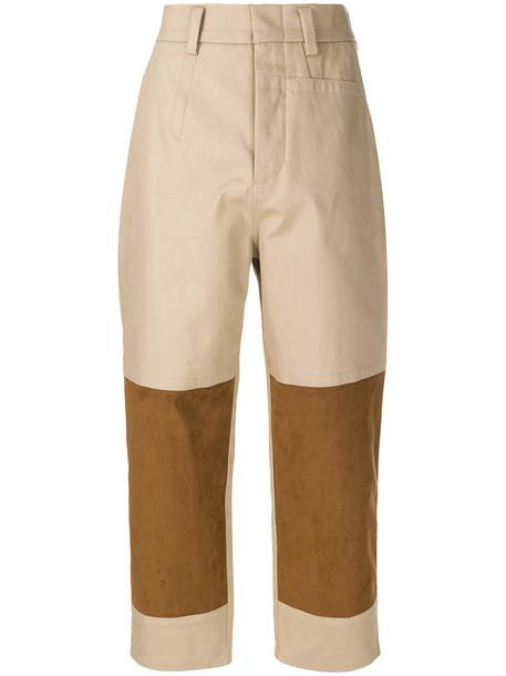 Sofie D'hoore cropped women nude cotton pants