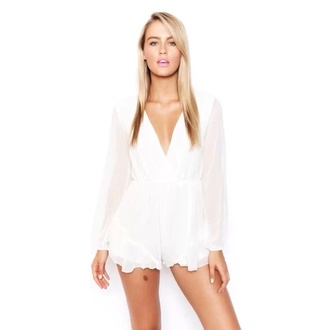 shorts white dress white lace shorts white white see through top romper floral fashion party short