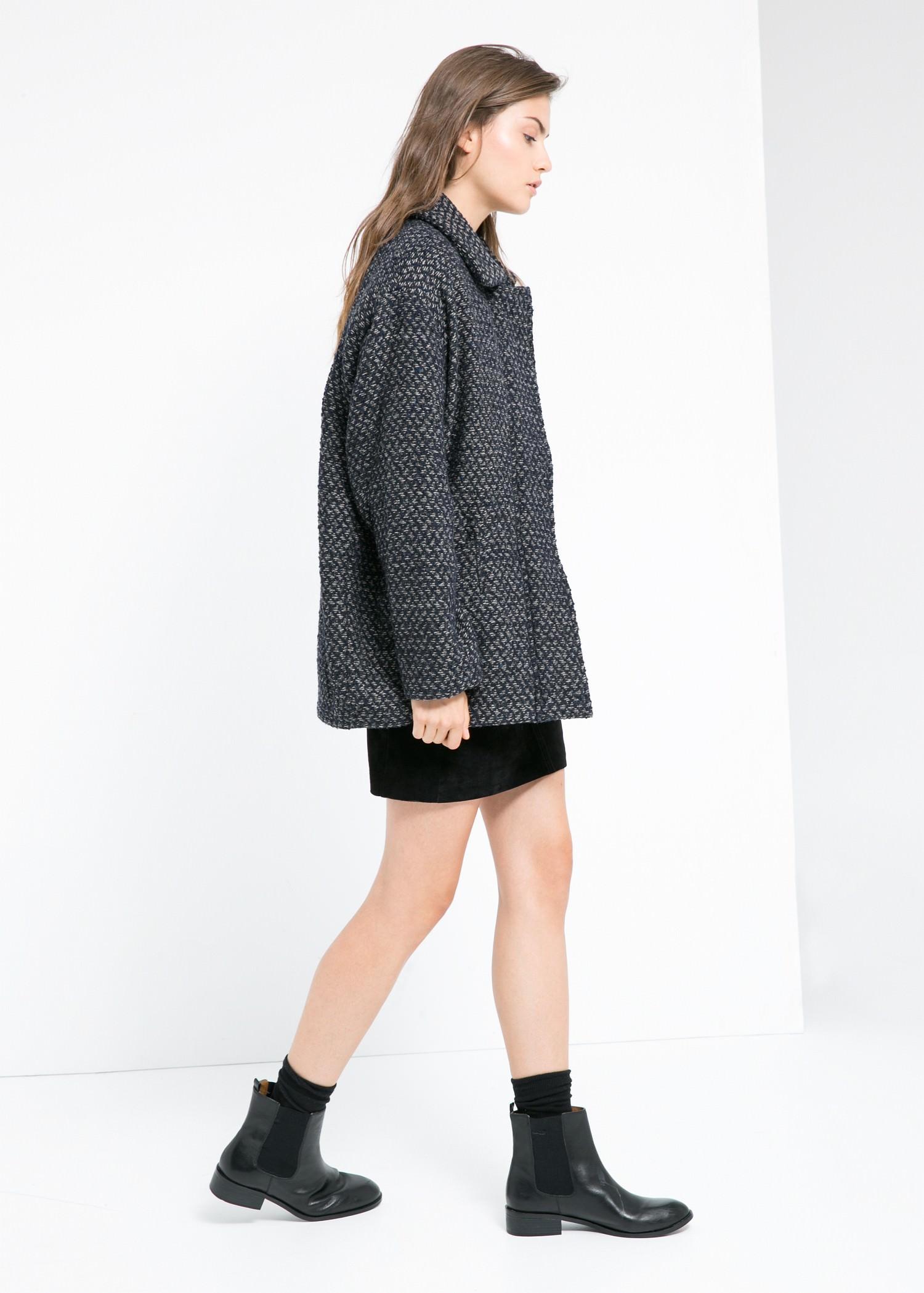Manteau cocoon en laine