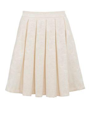 Cream Pleated Skirt 81
