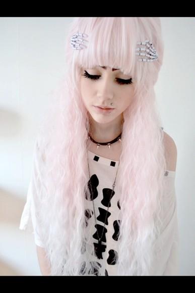 bones skeleton hair accessories grunge