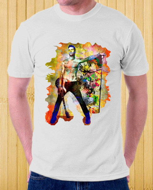 t-shirt clothes music celebrity tees artist maroon 5 adam lavine