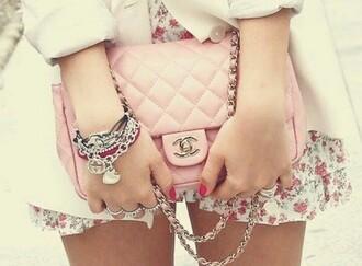 bag chanel bag pink bag jewels