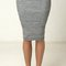 Heather knit simple pencil skirt